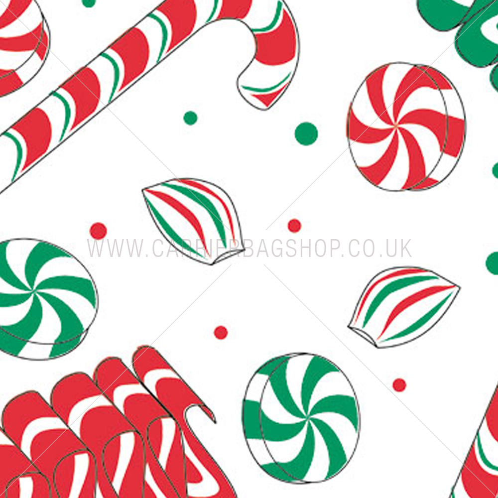 Christmas holiday sweets tissue paper from carrier bag shop