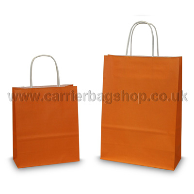 Bright Orange Paper Bags Coloured Paper Bags Carrier