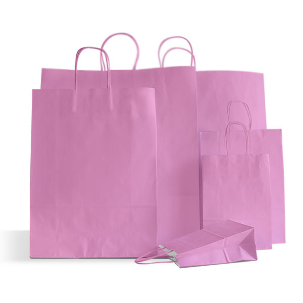 Pink Paper Carrier Bags Paper Bags Carrier Bag Shop
