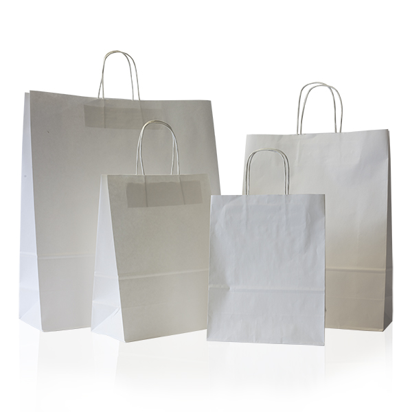 Plain paper bags with handles