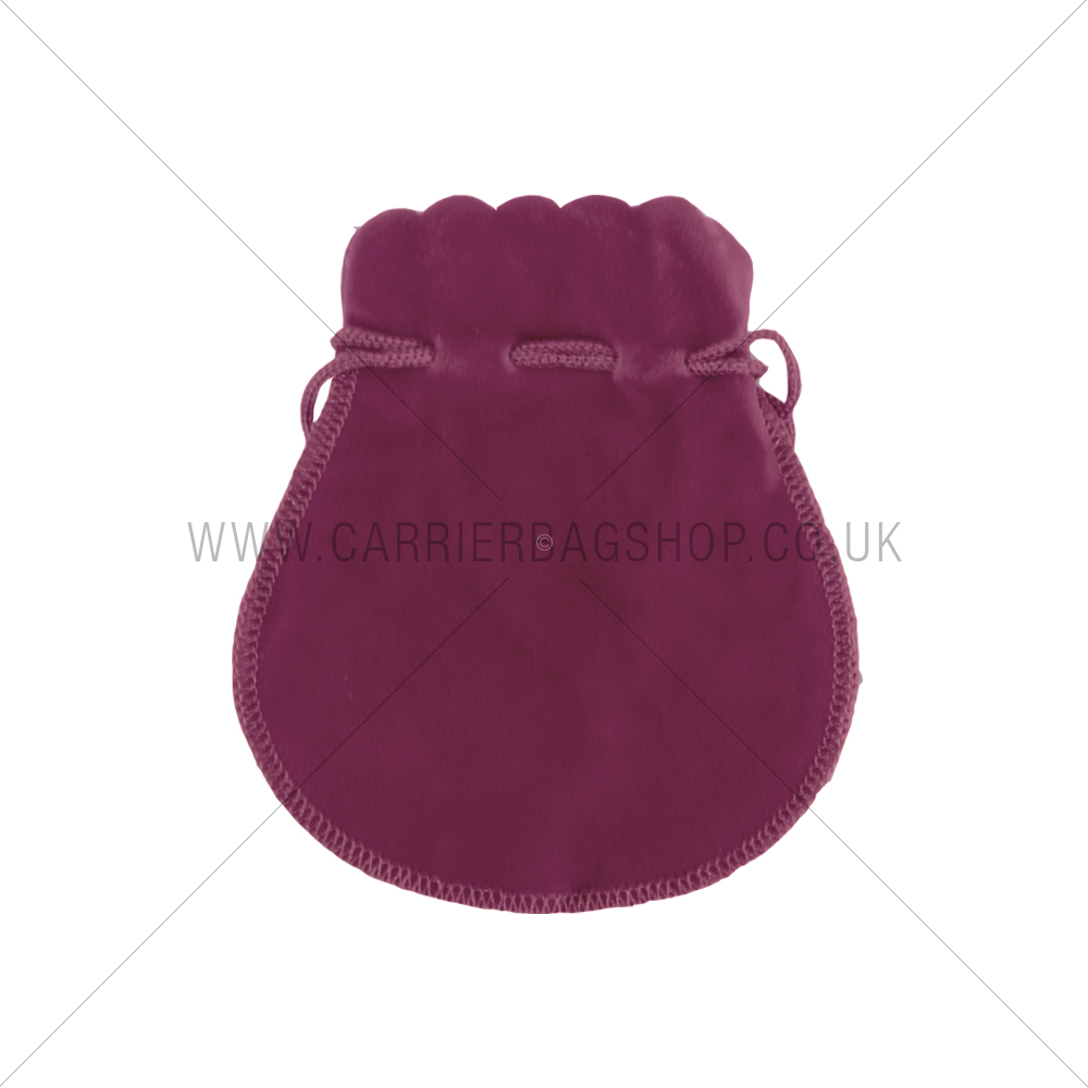Purple Velvet Pouches Gift Packaging Carrier Bag Shop