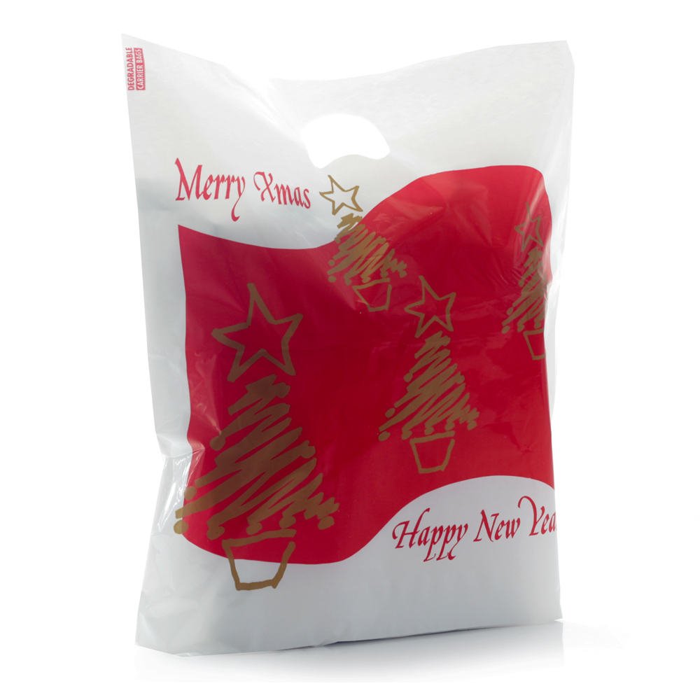 Christmas Plastic Carrier Bags Branded Bags Carrier