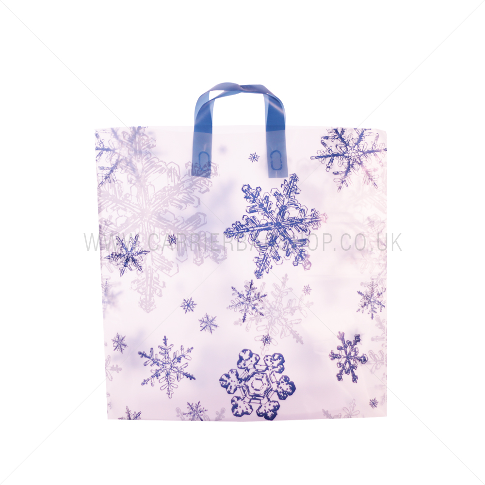 Snowflake Design Plastic Carrier Bags From Carrier Bag