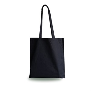 Black Cotton Shopping Carrier Bags with Long Handles