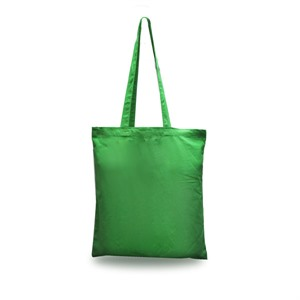 Green Cotton Shopping Carrier Bags with Long Handles