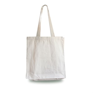 Heavyweight Natural Canvas Shopping Bags with Long Handles