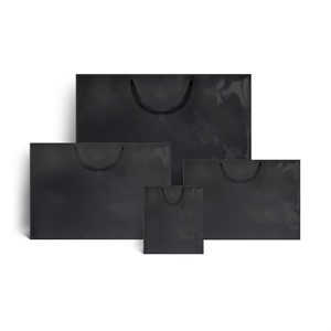 Black Gloss Boutique Paper Bags