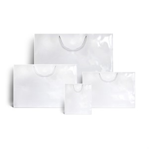 White Gloss Boutique Paper Bags