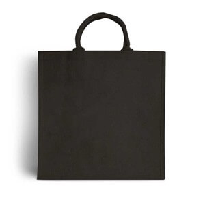 Black Jute Bags with Luxury Padded Handles
