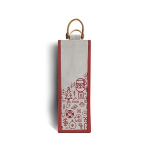 Iconic Christmas One Bottle Jute Bags