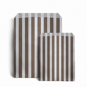 Brown Candy Stripe Paper Bags
