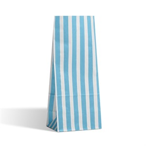 Light Blue Stripe Pick n Mix Paper Bags