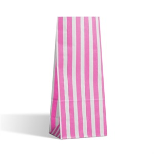 Pink Stripe Pick n Mix Paper Bags