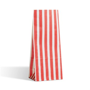 Red Stripe Pick n Mix Paper Bags
