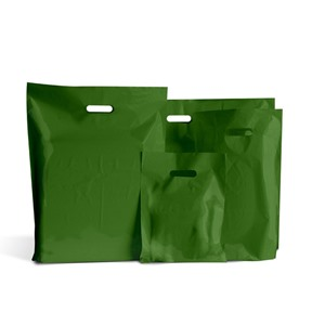 Harrods Green Classic Plastic Carrier Bags