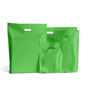 Light Green Classic Plastic Carrier Bags