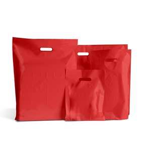 Red Classic Plastic Carrier Bags