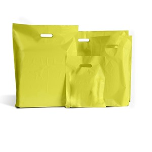 Yellow Classic Plastic Carrier Bags