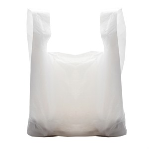 White Vest Style Plastic Carrier Bags