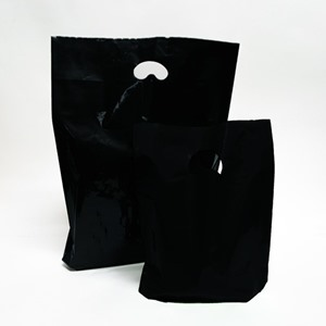 Black Degradable Plastic Carrier Bags