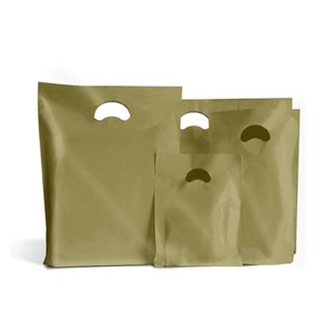 Gold Biodegradable Plastic Carrier Bags