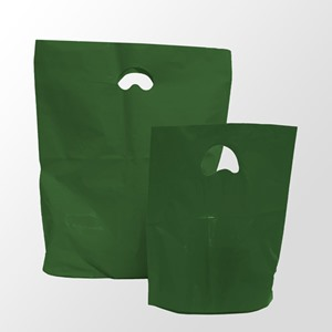 Harrods Green Degradable Plastic Carrier Bags