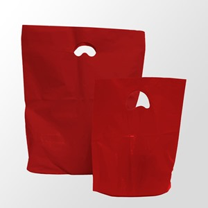 Red Degradable Plastic Carrier Bags