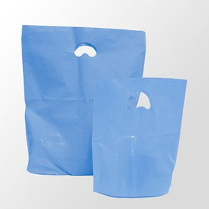 Light Blue Degradable Plastic Carrier Bags