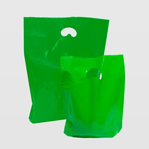 Light Green Degradable Plastic Carrier Bags