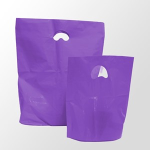 Purple Degradable Plastic Carrier Bags