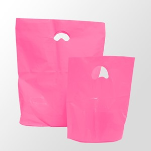Shocking Pink Degradable Plastic Carrier Bags