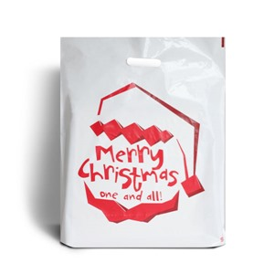 Santa Claus Is Coming Classic Christmas Carrier Bags