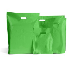Light Green Biodegradable Plastic Carrier Bags