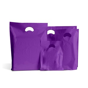 Purple Biodegradable Plastic Carrier Bags