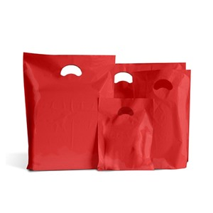 Red Biodegradable Plastic Carrier Bags
