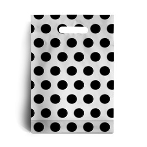 Standard Black Polka Dot Degradable Plastic Carrier Bags
