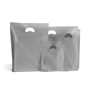 Silver Biodegradable Plastic Carrier Bags