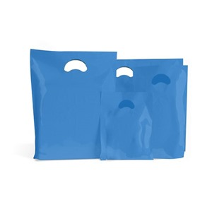 Light Blue Biodegradable Plastic Carrier Bags