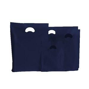Navy Blue Biodegradable Plastic Carrier Bags