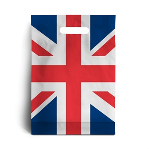 Union Jack Print Degradable Plastic Carrier Bags