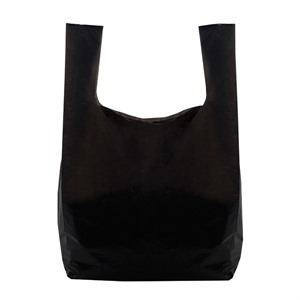 Recycled Black Vest Style Plastic Carrier Bags