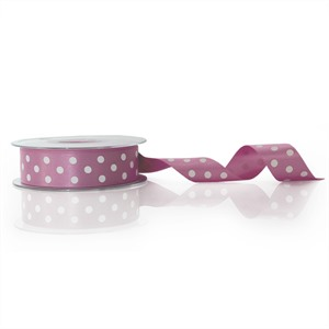 Pink Polka Dot Double Satin Ribbon [52]