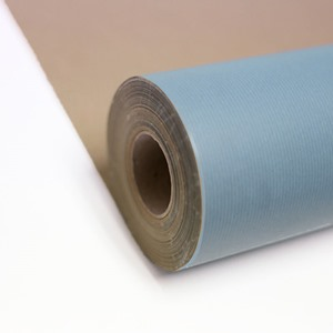 Baby Blue Kraft Roll Wrapping Paper