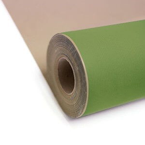 Lime Green Kraft Roll Wrapping Paper