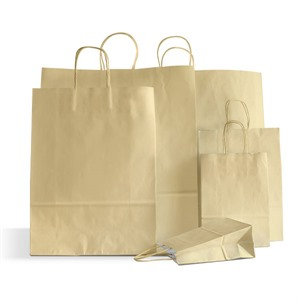 Ivory Premium Italian Paper Carrier Bags with Twisted Handles