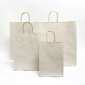 Stone Premium Italian Paper Carrier Bags with Twisted Handles