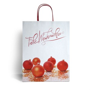 Frohe Weihnachten Christmas Paper Carrier Bags