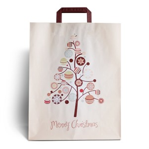 Merry Christmas Premium Paper Carrier Bags