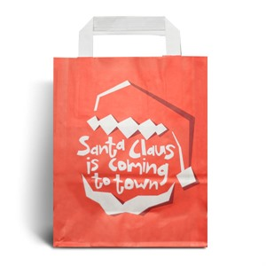 Santa Claus is Coming Christmas Carrier Bags