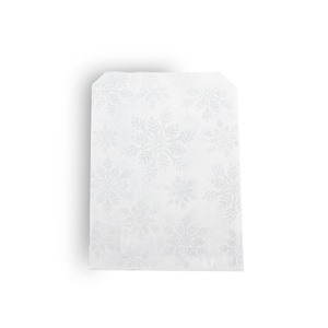 White Snowflake Paper Christmas Counter Bags